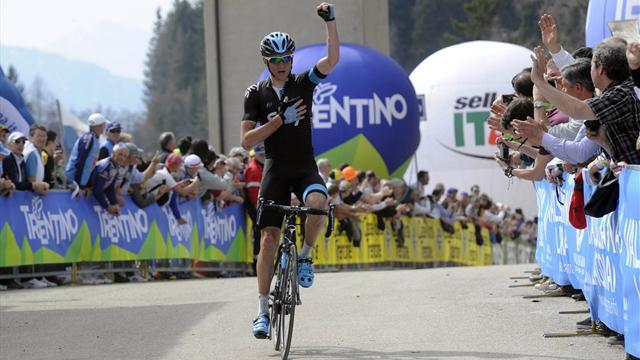 Cycling - Siutsou wins queen stage at Trentino, Wiggins fourth