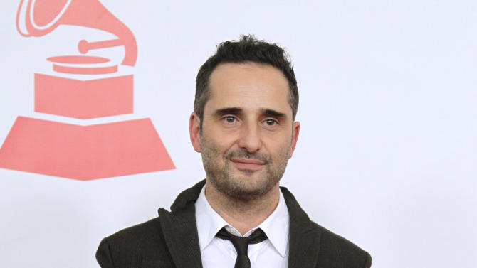 FILE - This Nov. 9, 2011 file photo shows musician Jorge Drexler, of Uruguay, at the Latin Recording Academy Person of the Year tribute to Shakira in Las Vegas. A mobile phone application Drexler created with Wake App designers will debut three new songs. He presented the project at the Billboard Latino Music Conference Tuesday in Miami. In Spain, it's already become a number one iTunes store app. (AP Photo/Julie Jacobson, file)