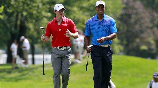 Golf - Woods plays down rivalry with good friend McIlroy