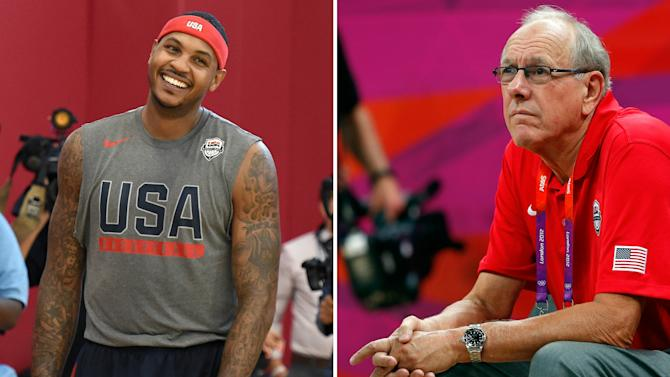 Syracuse coach Jim Boeheim says Carmelo Anthony 'unlikely' to win NBA title