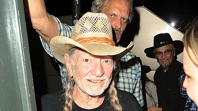 After cancelling his show in Colorado stating respiratory issues as the reason country singer Willie Nelson appears to be happy and healthy as he was greeted by fans ahead of his House Of Blues show in New Orleans, Louisiana