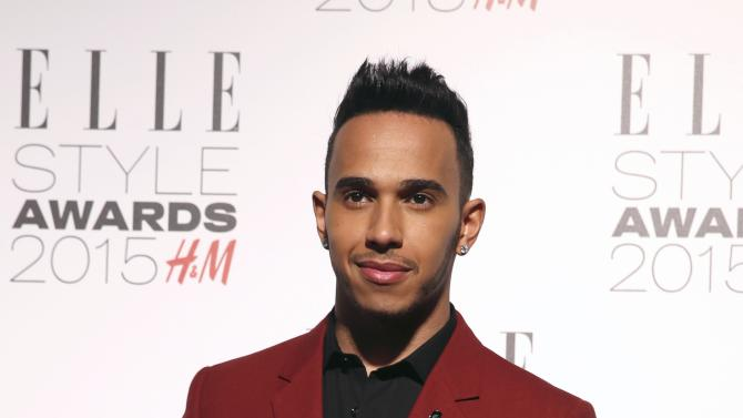 Lewis Hamilton attends the Elle Style Awards 2015 in central London