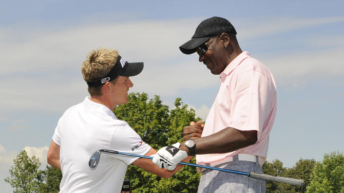 Luke Donald and Michael Jordan