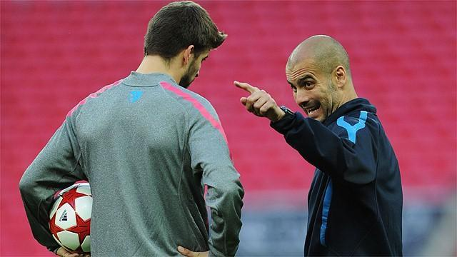 Liga - Pique: Pep is world's best coach despite our bust-ups