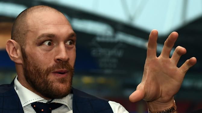 Britain's world heavyweight champion Tyson Fury, pictured in Bolton, north west England on November 30, 2015, revealed he was so paranoid about potentially underhand tactics he refused to drink water on fight night unless he had bought it himself