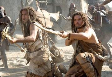 Cliff Curtis and Steven Strait in Warner Bros. Pictures' 10,000 B.C.