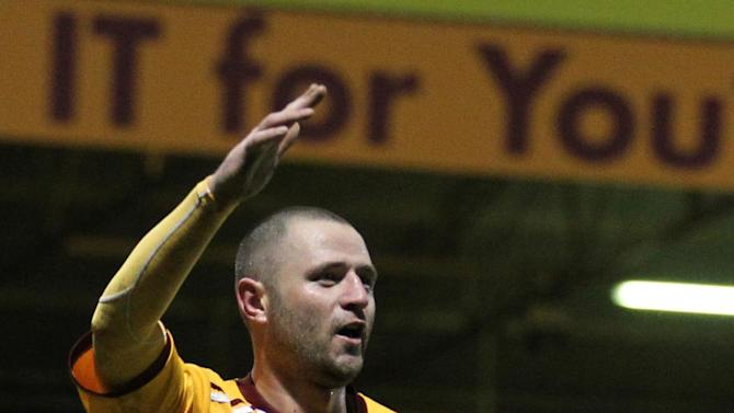 Michael Higdon opened the scoring in Motherwell's convincing win