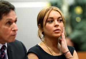 Lindsay Lohan Appears in Court Wearing Little Black Dress, Louboutin Heels