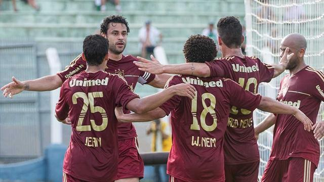 World Football - Fluminense win Brazil title with three games to spare