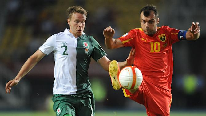 Soccer - FIFA World Cup Qualifying - Group A - FYR Macedonia v Wales - Phillip II Arena