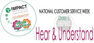 National Customer Service Week: The HEART Model, Principle #1 image ncsw day1