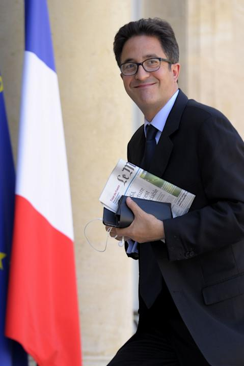 File picture of Aquilino Morelle, political advisor to France's President Hollande, arriving at the Elysee Palace in Paris
