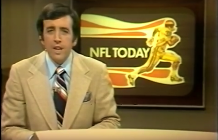 Brent Musberger hosting the CBS pregame show