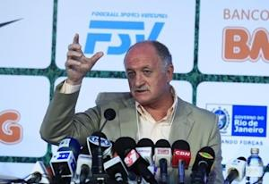 Brazilian national soccer team coach Luiz Felipe Scolari speaks during the 10th edition of Footecon, an international soccer forum, in Rio de Janeiro