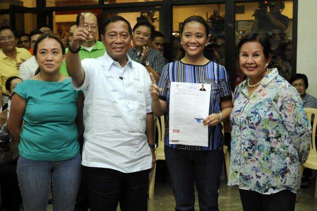 Vice President Jejomar Binay's eldest daughter Nancy files ...