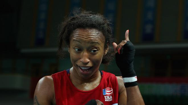 Raquel Miller Of The United States Celebrates Winning Against Irina Poteyeva Of Russia In The Women's 69kg Semifinals Getty Images