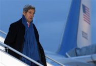 U.S. Secretary of State John Kerry arrives at Geneva International airport in Geneva November 23, 2013. REUTERS/Denis Balibouse