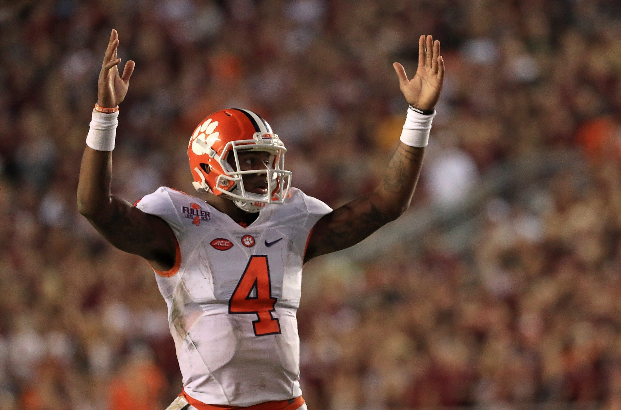 Deshaun Watson and the Tigers will take on Ohio State in the College Football Playoff semifinals. (Getty)