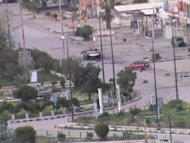 Picture from the Syrian opposition's Shaam News Network April 13, shows a general view of the restive city of Homs following recent Syrian government bombardment. AFP is using pictures from alternative sources as it was not authorised to cover this event and is not responsible for alterations that cannot be independently verified