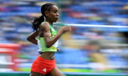 Almaz Ayana of Ethiopia competes in the Olympics 10,000m final