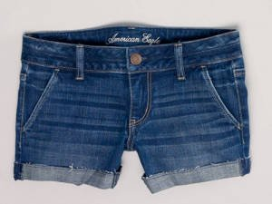 American Eagle Denim Trouser Midi Shorts