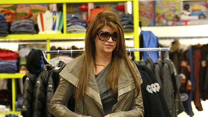 Kirstie Alley Shopping In Beverly Hills