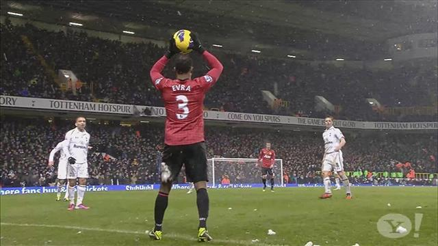 Premier League - Evra laughs off snowball blitz