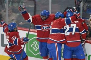 Bourque, Desharnais lead Canadiens over Sabres 6-1