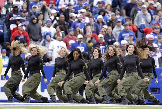 Buffalo Bills cheerleaders halt season after suit