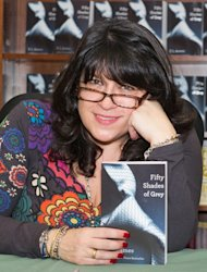 E L James promotes 'Fifty Shades of Grey' at the Barnes & Noble, Philadelphia, on May 3, 2012 -- Getty Premium