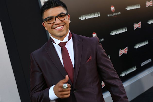 "Victor Ortiz arrives at the Lionsgate Los Angeles premiere of ""The Expendables 3"" at TCL Chinese Theatre on Monday, Aug. 11, 2014, in Hollywood, Calif. (Photo by Alexandra Wyman/Invision for Lionsgate/AP Images)"