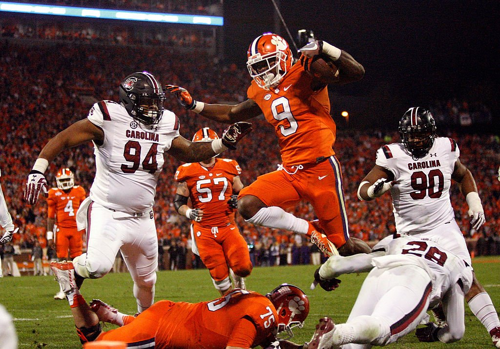 South Carolina players says Clemson players used racial slurs on the field. (Getty)