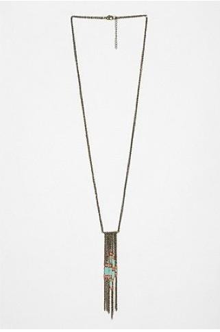 Trapeze necklace, $34, at Urban Outfitters