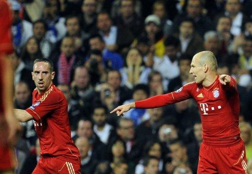 Bayern Munich were reported to have fined Ribery (left) 50,000 euros ($66,000) for the dressing room clash with Robben