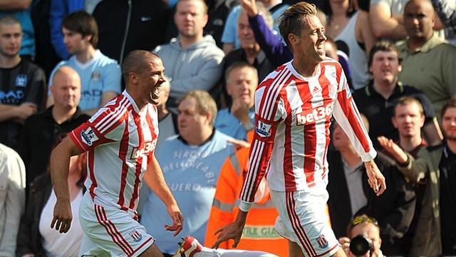 Premier League - Crouch handiwork helps Stoke hold City