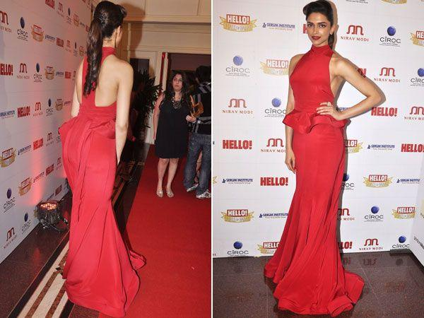 Images via : iDiva.comDeepika Padukone blew our minds with this sexy red peplum gown. She's managed to get all the hot trends of the season together and does justice to it. Way to go!Related Articles