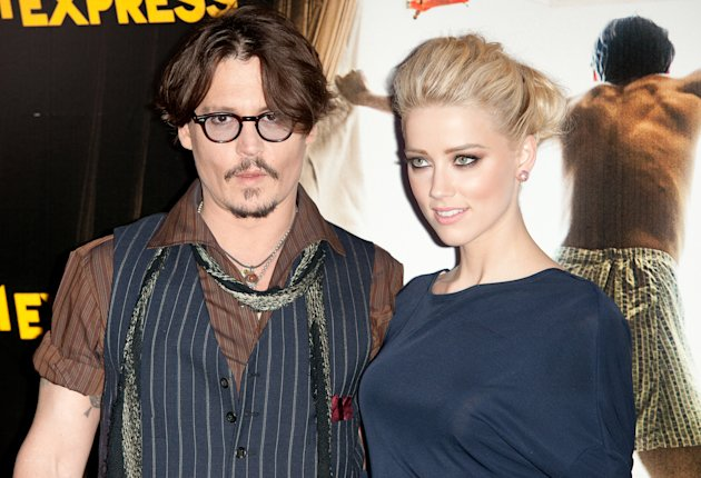 Amber Heard with Fiancé