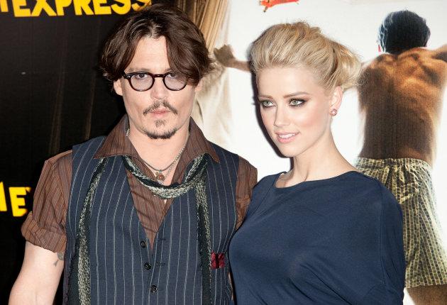 Amber Heard met verloofde (m)