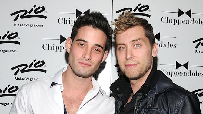 Lance Bass Visits The Chippendales