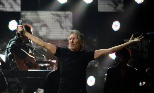 "British musician Roger Waters performs on December 12, 2012 at Madison Square Garden in New York. The former Pink Floyd musician backed anti-government protests in Bulgaria over the past two-and-a-half months during his show ""The Wall Live"" in Sofia late Friday"