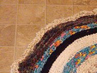 Create a rag rug with old sheets.