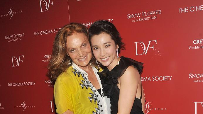 Snow Flower and the Secret Fan NY Screening 2011 Diane Von Furstenberg Li BingBing