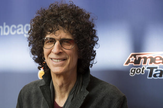 "FILE - In this March 2, 2015 file photo, judge Howard Stern arrives at the ""America's Got Talent"" Season 10 red carpet kick off at the New Jersey Performing Arts Center in Newark, N.J. T"