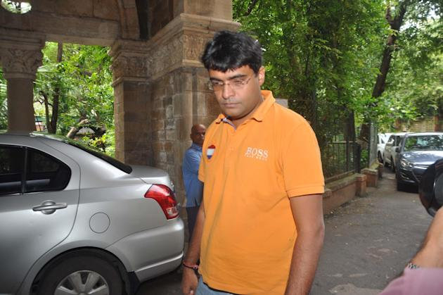 Chennai Super Kings` Gurunath Meiyappan arrives at Esplanade Court in Mumbai in connection with IPL match fixing case on Sept. 21, 2013. (Photo: Sandeep Mahankal/IANS)