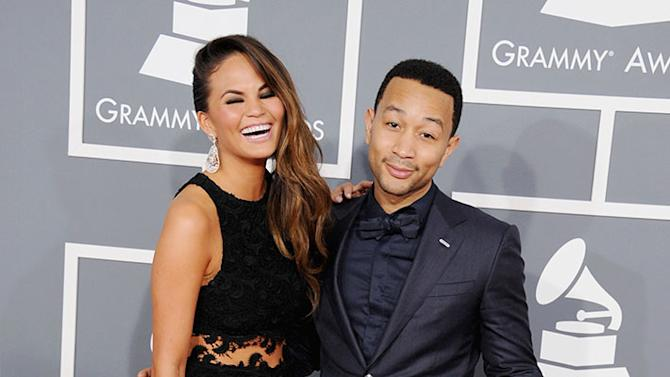 The 55th Annual GRAMMY Awards - Arrivals: Chrissy Teigen and John Legend