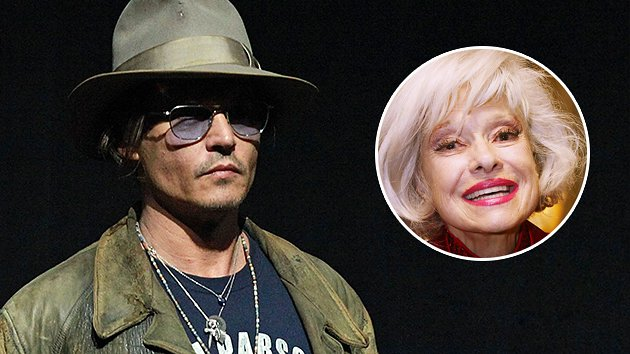 Johnny Depp, Carol Channing