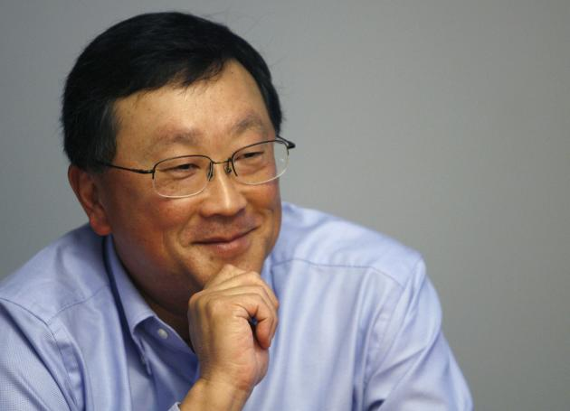 John Chen, Chairman and CEO of Sybase Inc., speaks at the Reuters Global Technology Summit in New York in this file photo taken May 18, 2009. BlackBerry Ltd has no plans to shut down its loss-making handset business, incoming interim Chief Executive John Chen said on November 4, 2013, adding that the smartphone maker has sufficient resources to stage a turnaround. REUTERS/Lucas Jackson/Files (UNITED STATES BUSINESS SCI TECH)
