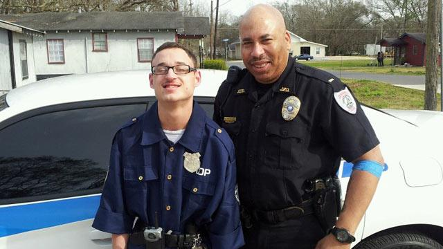 Louisiana Police Officer Makes Mentally Disabled Teen's Dream Come True
