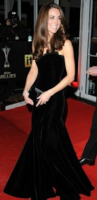 Kate Middleton black velvet