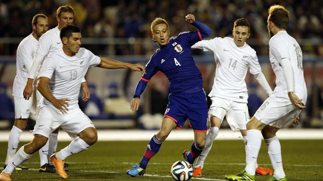 Asian Football - Fast start propels Japan to easy win over New Zealand